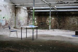 school in ruins